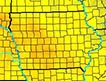 Iowa heat map