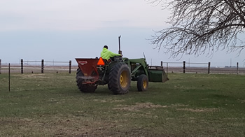 pasture application of fertilizer